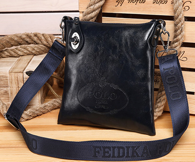Free Shipping  POLO FEIDKA Black Fake Leather Twist Rock Second Shoulder  Bag (Navy 5202238bd2d3a