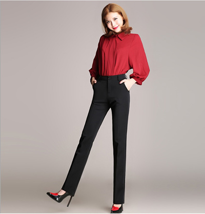 b1f8dce3341e7 Free shipping summer women s suit OL Formal Pants Office Ladies Work Solid  Trendy Trouser