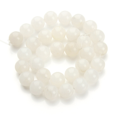 Free Shipping White Jade Loose Round Spacer Stone Beads 40cm Strand 4 6 8  10 12 14mm For Jewelry Mak