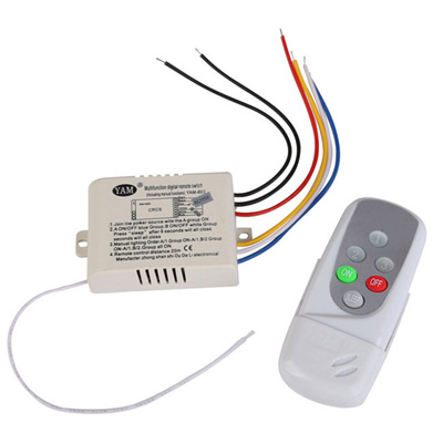 Free Shipping Wireless 3 Ways On Off Digital Remote Control Switch For Led Light 220 240v High Quali