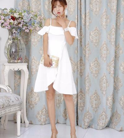 Qoo10 Free Size Korea Off Fashion Midi Dress Ly4612 Women S Clothing