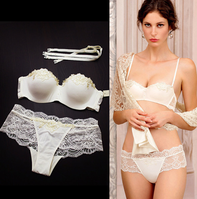 2299fa71e0e58 Qoo10 - French Underwear Women Bra Set Lace White Sexy Lingerie Sets Push Up  1...   Underwear   Sock.