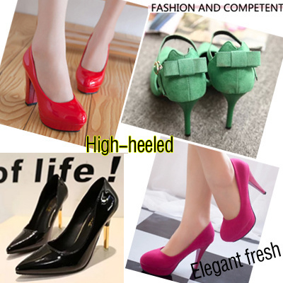 Qoo10 - High Heel Shoes Wedges Shoes Women Party Wedding ...