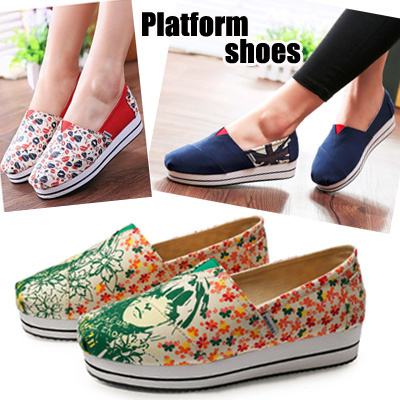 Qoo10 - Platform shoes Canvas shoes slimming shoes ...