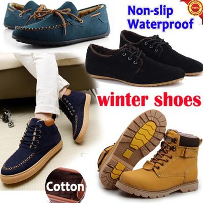 qoo10 winter boots mens shoes waterproof non slip dress