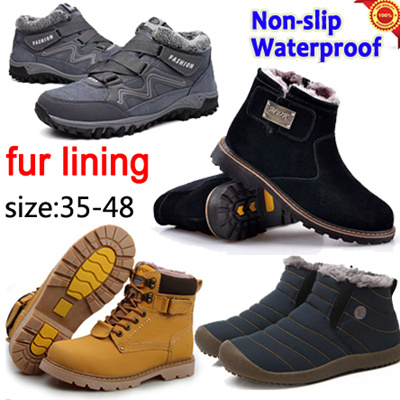 Winter boots☆Mens Shoes☆Waterproof Non-slip☆dress shoes☆Casual Shoes e0246fdd6