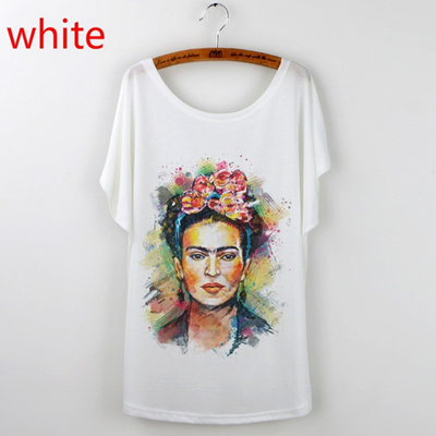 af66bf62ccd Qoo10 - Frida Kahlo Print T-Shirt Women 2017 Casual Tops Tees Plus Size  O-neck... : Women's Clothing
