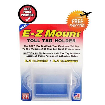 [From USA]EZ Pass Toll Tag Holder,Fits New & Old Transponder,i-Pass,i-Zoom,  Clear B00CZG1ZRY(DUTY PA