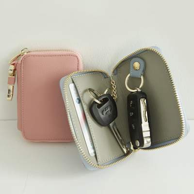 ccbdb4e3f7a3 FROMBGenuine Leather Car Key Pouch Keyless Key Holder Case Pouch Wallet  Keychain Key Chain