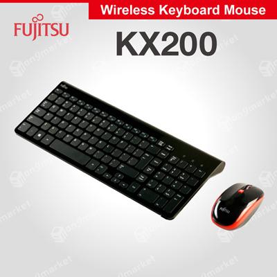 15c3bbf36b9 Fujitsu Wireless Keyboard Mouse Combo KX200 (Black)