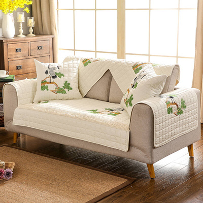 Fuk to save fabric embroidery cotton sofa home leather sofa cushion pillow  Bay window cushion Bath m
