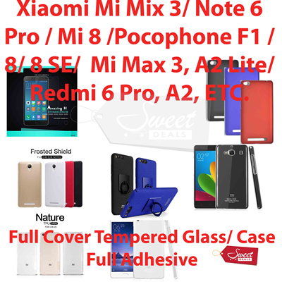 Qoo10 Full Coveradhesive Tempered Glasscasexiaomi Mix 3