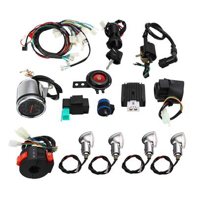 Full Electric Start Engine Wiring Harness For 50cc 110cc 125cc PIT Quad  Dirt Bike ATV Dune Buggy