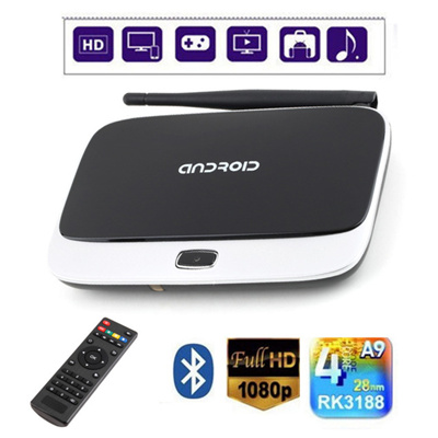 Fully loaded CS918 Q7 RK3188 Quad Core Android 4 4 Smart TV Box 1080P 2GB  RAM Free Live TV + Remote Control Top Quality