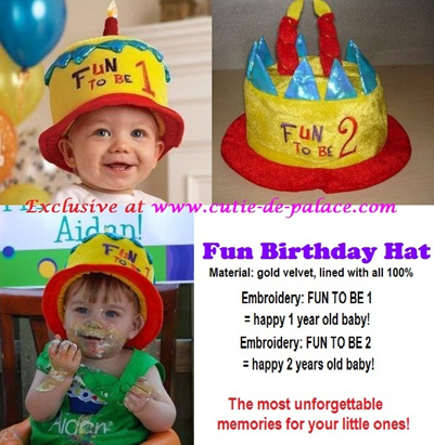 Fun Happy Birthday Hat For 1 Year 2 Years Old Baby 3 Yrs Sweet