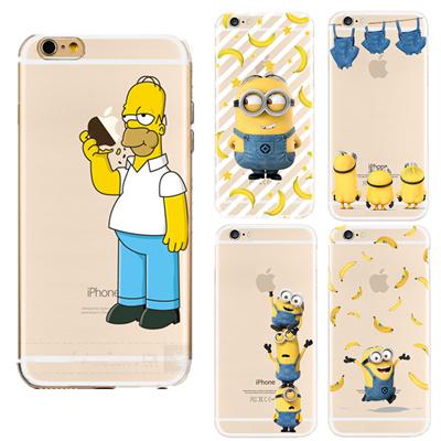 quality design 46ec0 050ec funny cartoon transparent simpson minion phone case iphone 5 5s se 6 6s 7  plus soft silicone tpu