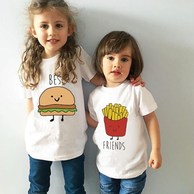 7758f71c9 Qoo10 - Funny Children Girls Boys Short Sleeves T Shirt Funny Best Friends  Top... : Baby & Maternity