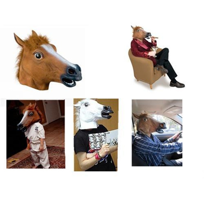 Funny Gadgets Useless Box Funny Halloween Mask Toys Cosplay Wigs Horse  Gangnam Style Dance