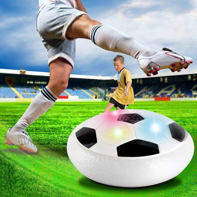 Mini Air Power Soccer Disc Hover Gliding Ball Sports Football Toy Kid New