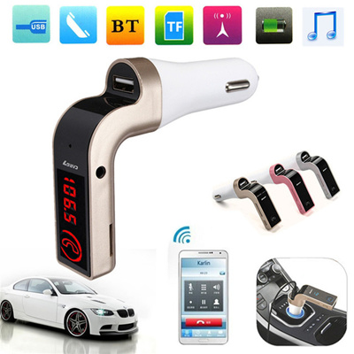 G7 Bluetooth Mp3 Music Player Car Kit Voltage Display Fm Transmitter Usb Charger Support Tf Card Colors Random
