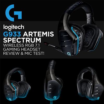 G933 Artemis Spectrum™ Wireless 7 1 Surround Gaming Headset NEW