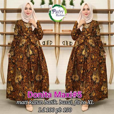 Qoo10 Gamis Donita Maxi 5 Gamis Batik Wanita Jumbo Size High