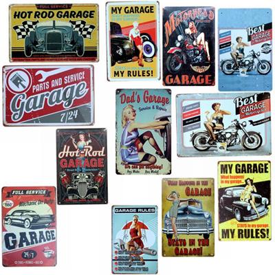 Qoo10 Garage Vintage Tin Signs Retro Car Wall Bar Home Hotel Art