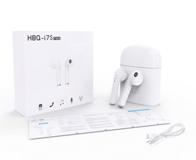❤Geeks ❤Apple Airpods Wireless Bluetooth Headset for iPhones with iOS 10 or  Later White HBQ i7 i7s