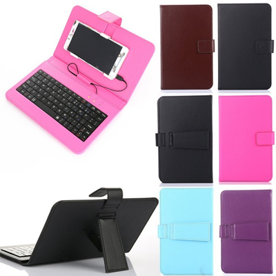 reputable site 24f39 6734d General Wired Keyboard Flip Holster Case For Android Mobile Phone 4.7 - 6  Halloween
