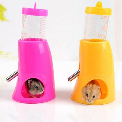 GenericSmall Animal Nest Hamster Cute Water Bottle Holder Dispenser With  Base Hut