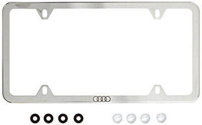 Qoo Genuine Audi ZAWB Slimline License Plate Frame With - Audi license plate frame