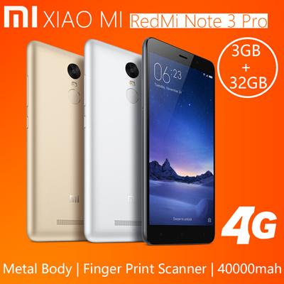 Genuine Xiaomi Redmi Note 3 Pro Note3 Snapdragon 650 Hexa Core 55 2GB RAM 16GB