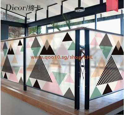 Qoo10 Geometric Color Window Stickers Glass Stickers