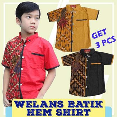 GET 3 PCs - Welans Batik - Child Kebaya - Hem Shirt - LP07 Motif
