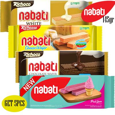Get 5 Pcs Nabati Wafer Richeese Richoco Nabati 145gr All Variant