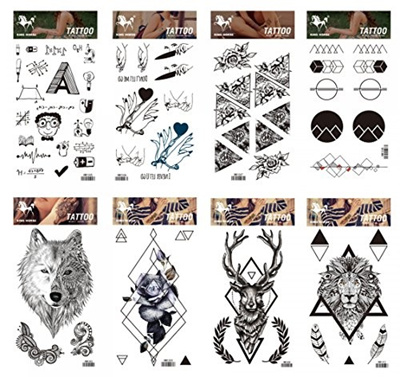 bbbae61bd Qoo10 - GGSELL GGSELL tattoo 8pcs cartoon and totem temporary tattoos in  one p... : Bath & Body