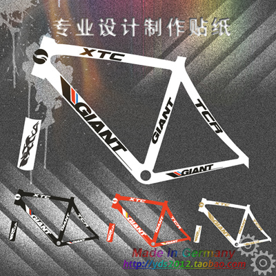 Giant bike decal sticker giant xtc mountain bikes road bike sticker sculpting type reflectors