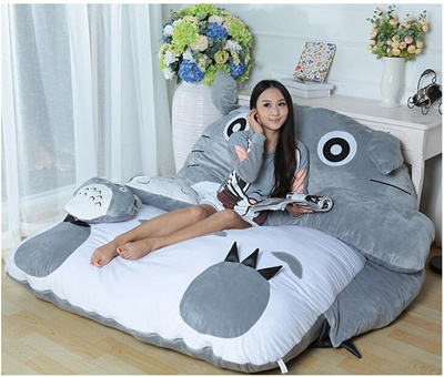 Groovy Giant Totoro Bed Mattress Cushion Diy Big Soft Beanbag Mattresses Double Sleeping Fillings Bed Set Caraccident5 Cool Chair Designs And Ideas Caraccident5Info