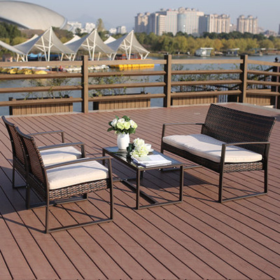 Qoo10 Giantex 4 Pc Rattan Patio Furniture Set Garden Lawn Sofa