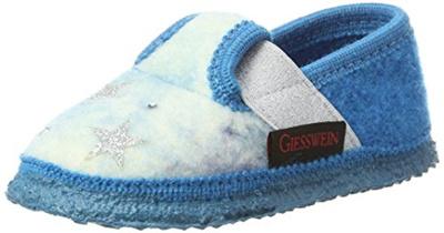 Giesswein Mädchen Trinum Hausschuhe, Blau (Cyanblau), 27 EU