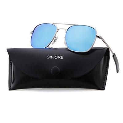 208ed7218ca GIFIORE Aviator Sunglasses Polarized For Men Women Square Mirror Metal  Frame Sun Glasses