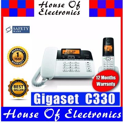 Gigaset C330 Combo Dual Land Line Phone X 01 Corded Desk X01