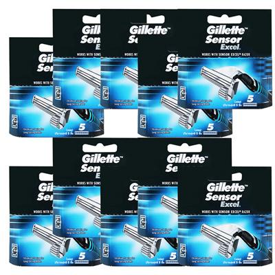 Qoo10 - Gillette Sensor Excel Razor Cartridges 50 Pack   Household ... dbe181a0ec2b