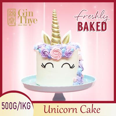 Unicorn Birthday Cake Chocolate 500g 1kgMade In SG