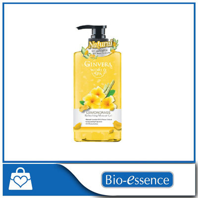 Ginvera World Spa Flower Petal Refreshing Shower Gel Lemongrass 600ml