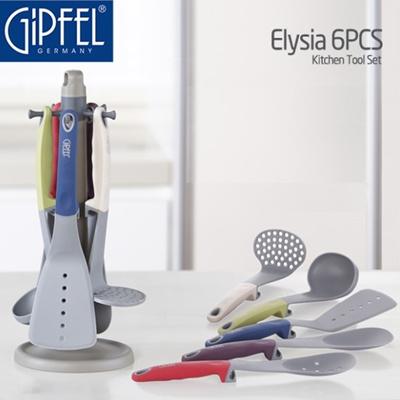 Qoo10 gipfel elisya 6pcs kitchen cooking tool set with for Kitchen tool set of 6pcs sj