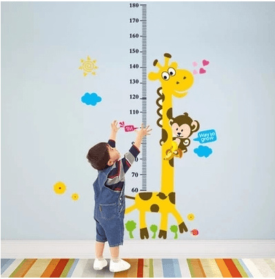 qoo10 - giraffe child height wall sticker cute baby height height