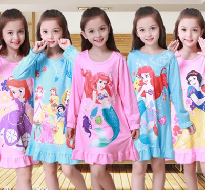 5d046960d21d2 GIRL LONG SLEEVES NIGHT DRESS/NIGHT GOWN/PAJAMA/PJ/FOR KID