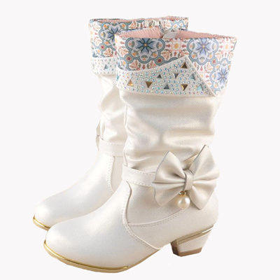 42c1e26ea3 Qoo10 - Girls high heel boot child winter boots 6 7 8 9 10-year-old girl  shoes...   Kids Fashion