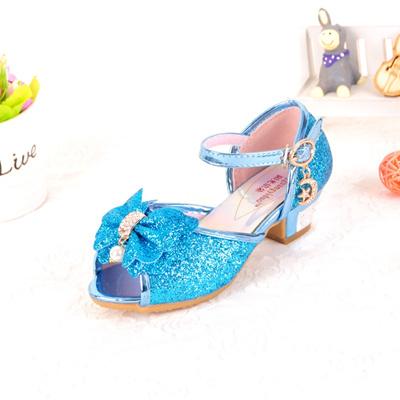 Qoo10 - Girls high heel Sandals child baby fish mouth shoes snow Cinderella  Pr...   Kids Fashion